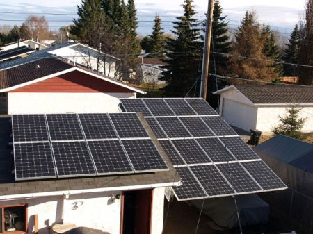 The 24 solar panels installed in Ken Marston's backyard powers 100 per cent of energy consumed in the household.