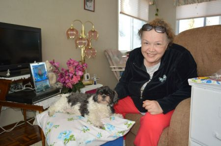 "Devon resident Leilani O'Malley is publishing her autobiography ""A Whisper Past"" about the severe abuse she suffered in her life. O'Malley was the first person to successfully sue the Alberta government for wrongful sterilization in 1996, setting a precedent of class action lawsuits against the province. Her Shih-Tzu poodle Peggy Sue joins her in her home while she shared her story."