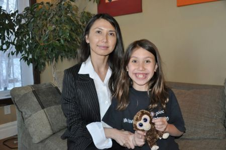 "Calmar physician Dr. Nhung Tran-Davies (left) started a petition in December on change.org calling for the Alberta government to eliminate the ""discovery math"" system and to return to the original curriculum where math fundamentals are taught. She started the petition after seeing frustration in her eight-year-old daughter Kenya (right) when trying to solve math problems."