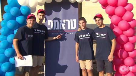 Trump supporters in Israel (Photo: CNN)